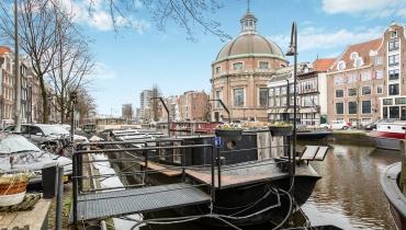 Woonboot, Singel 54 Amsterdam